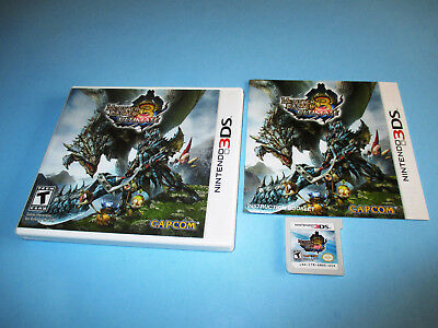 Monster Hunter 3 Ultimate (Nintendo 3DS) XL 2DS Game w/Case & Manual
