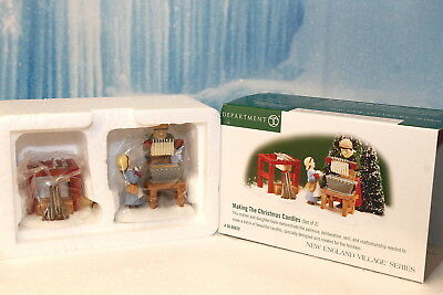 """Department 56 New England Village """"Making The Christmas Candles"""" NEW"""