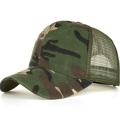 fea0a284ac5d4 Camouflage Mesh Trucker Cap for Men - Camo Plain Mesh Trucker Hat Adjustable