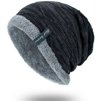 64cd234df21dd Winter Beanies Slouchy Chunky Hat for Men Women Warm Soft Skull Knitting  Caps
