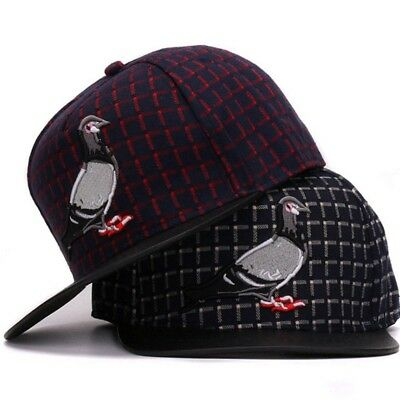 e4a4bee5ab7 AKIZON Snapback 3D Pigeon Hat Embroidery Adjustable Hats for Men and Women