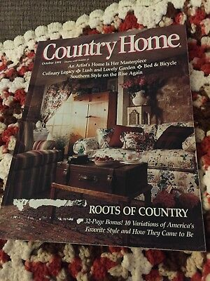 Country Home Magazine - Vintage - October 1991