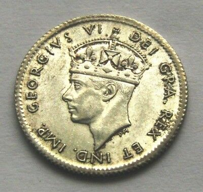 194c1 FIVE CENTS NEWFOUNDLAND SILVER COINS KING GEORGE VI