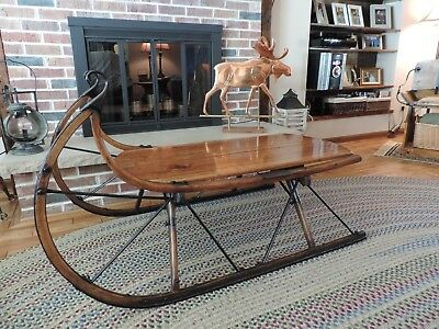 Antique, Cutter Sleigh Coffee Table, 100 years old