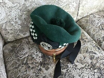 Authentic green Clan Campbell beret, complete with badge and motto.100%wool.
