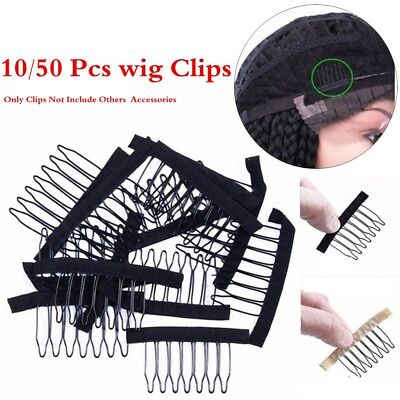 Hair Extensions Tool Lace Wig Clips 6/7 Tooth Steel Pin Hairpins Wigs Combs