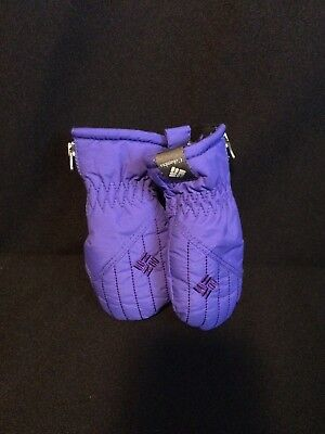 COLUMBIA Infant Purple Winter Mittens Gloves One Size