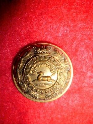 """The King's Liverpool Victorian Muted Gilt Button, 25 mm / 1"""" dia. - Hawkes Maker"""