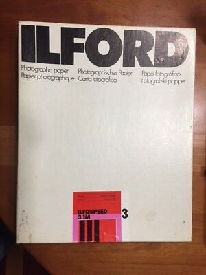 """Ilford ILFOSPEED 3.1M PhotographicPaper, 8x10"""" 100 Sheets, opened box"""