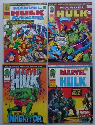 Mighty World of Marvel comic #108,129,208,216 (1974-76) Most FN/VFN (phil-comics