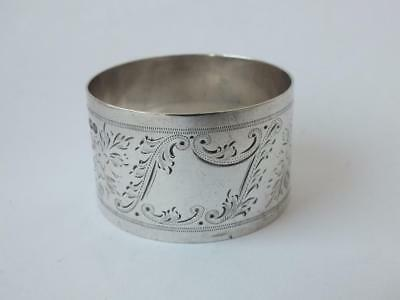Engraved Solid Sterling Silver Napkin Ring 1924/ H 2.5 cm