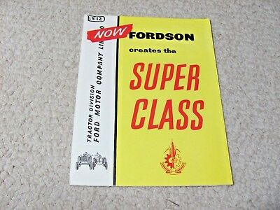 1960's BRITISH FORDSON TRACTOR SALES BROCHURE...