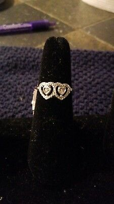 Two Hearts Silver Ring New With Tags Irish Celtic