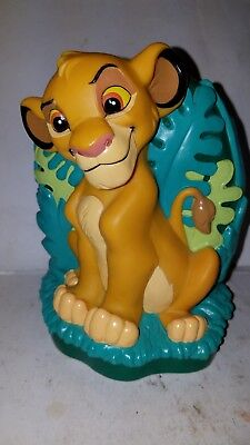 Vtg The Lion King Baby Young Simba Piggy Coin Bank 1994 Disney Just Toys Jungle