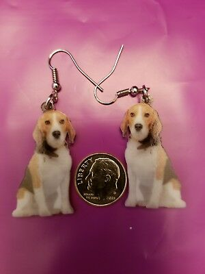 Beagle Foxhound Harrier Dog  lightweight fun earrings  jewelry FREE SHIPPING!