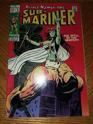 Sub-Mariner #9 VF Off-white pages (Jan 1969, Marvel)