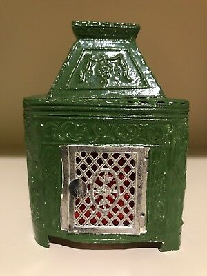 ANTIQUE DOLLHOUSE MINIATURE FIREPLACE STOVE BURNER GERMANY RARE HTF 1900's