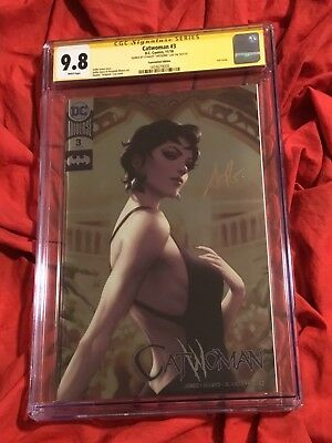Cgc Ss 9.8~Catwoman #3~Nycc Foil Exclusive Variant~Signed By Stanley Artgerm Lau