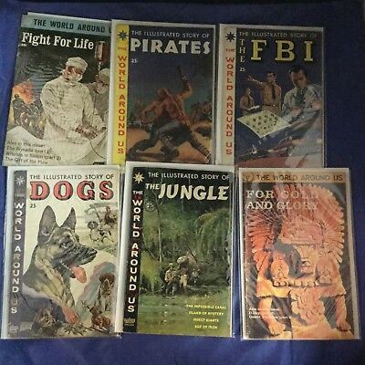 The World Around Us Lot of 6 Issues - Classics Illustrated - Gilberton