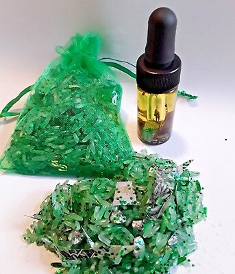 Fast Cash Money Oil Lucky Green Hoodoo Money Rice SALE 20% OFF Wicca Oils Pagan