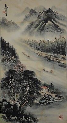 Superb Large Chinese Painting Signed Master Li Xiongcai No Reserve G1899