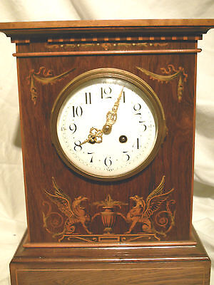Large Antique Wooden Japy Freres Mantle Bracket  Clock
