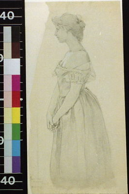 Photo:Standing figure of woman,Female,Portrait,1900,Otto Henry Attwood