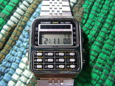Casio CL-301 Solar Metal Band Excellent condition watch used from japan
