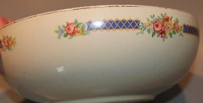 "Hall's~Blue Bouquet~ 9""~ Salad Serving Bowl Hall's Superior Quality Kitchenware"