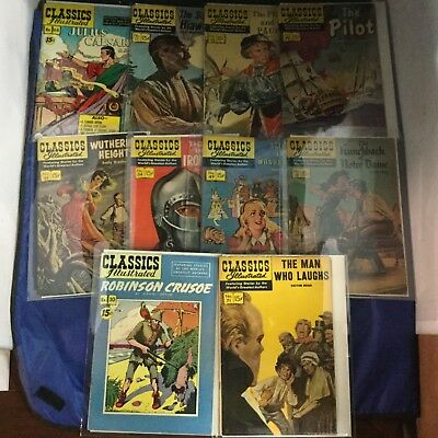 Classics Illustrated Comics 10 Issue Lot - Vintage RARE - Gilberton Lot J