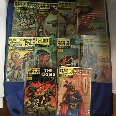 Classics Illustrated Comics 10 Issue Lot - Vintage RARE - Gilberton Lot I