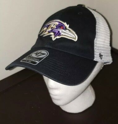 8220e1f18 Baltimore Ravens NFL  47 Brand Mesh Closer Stretch Fitted Hat L XL NWT   27.99