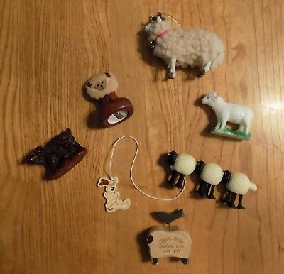 Sheep and Lamb Collection set of six 6 figurines Vintage toys