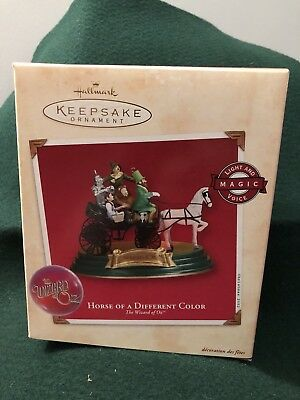 "NIB - Hallmark Keepsake Ornament - ""Horse Of A Different Color"" - Wizard of Oz"