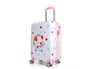 E52 Cartoon Dog Universal Wheel Children Suitcase Luggage Trolley 19 Inches W