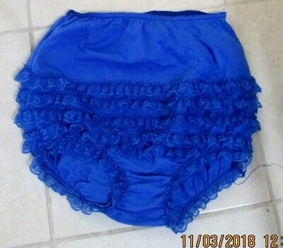 #09Square Dance Pettipants, Size  Lg,good Condition ,blue,pantie Leg