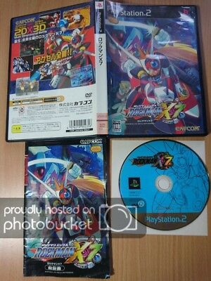 PS2 Rockman X7 MEGA MAN MEGAMAN CAPCOM ACTION PLATFORM GAME SONY PLAYSTATION 2 A