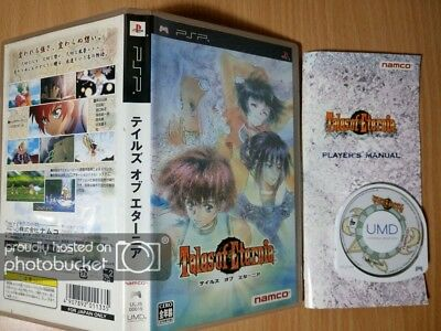 PSP Tales of Eternia DESTINY NAMCO ROLE PLAYING GAME SONY PLAYSTATION PORTABLE