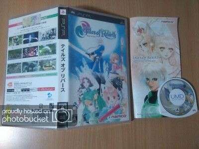 PSP Tales of Rebirth NAMCO BANDAI ROLE PLAYING GAME SONY PLAYSTATION PORTABLE