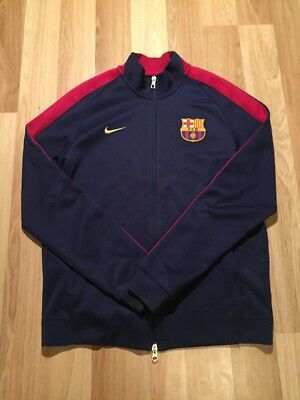 a093649ec Nike FC Barcelona Soccer Zip Up Jacket Navy 2014 Medium 607710-424