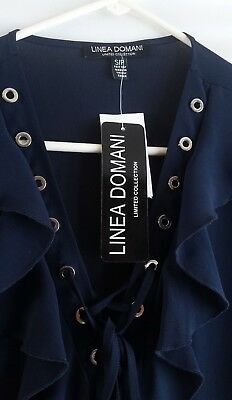 ~New With Tag, Linea Domani Limited Collection, Small Petite Navy Dressy, Blouse