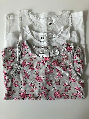 BNWT Girls Clothing Bundle of 3 Singlets Size 7-8 from H&M