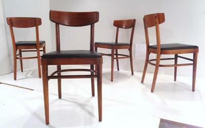 Mid Century Modern Thonet Bentwood Side Cafe Dining Chairs Vintage NYC Set of 4