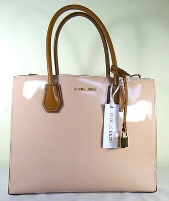 2ab90955eb86 Michael Kors Mercer Large Convertible Ballet Pink Patent Leather Tote Bag