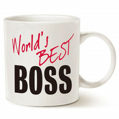 BEST BOSS EVER Gift Coffee Mug Birthday Present Christmas Gifts
