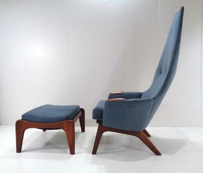Adrian Pearsall 2056-C for Craft Associates MCM Lounge Chair & Ottoman- Minty.
