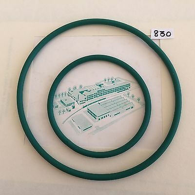 Sewing Machine Drive Belts Pair to fit Vintage Bernina 830 Record Spares Parts