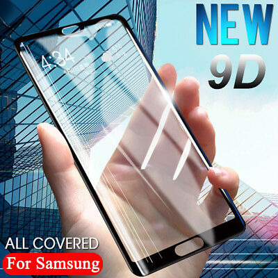9D Tempered Glass Full Screen Protector Guard For Samsung Galaxy A7 2018 A750