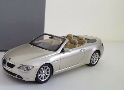 BMW E64 6 series convertible platinbronze Kyosho 1/18 dealer edition