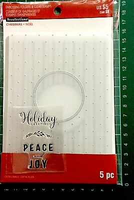 Recollections Stamp & Emboss Set ~Christmas Noel Holiday Greetings Code 565264